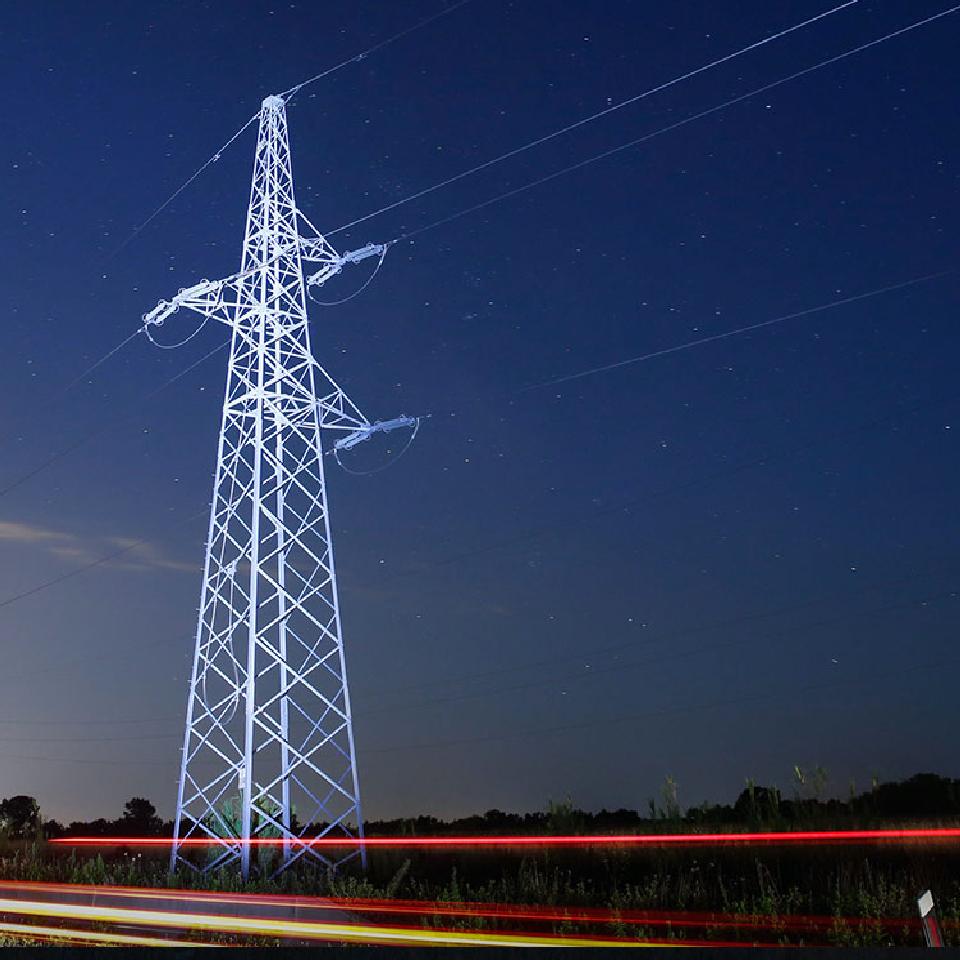 Foto de torre de alta tensión